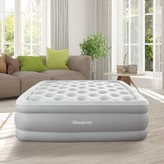 Simmons Skyrise Full Raised Express Air Mattress with Electric Pump Size: Twin