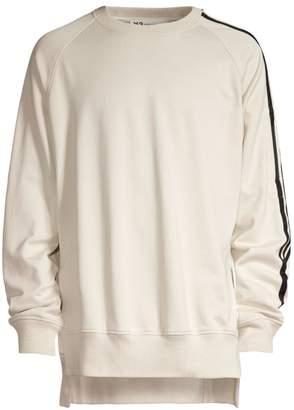 Y-3 Y 3 Three-Stripe Crew Sweatshirt