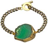 Janna Conner Designs Gold and Green Fire Agate Mireille Bracelet