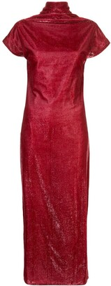 Paula Knorr Draped Velvet Dress