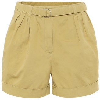 Acne Studios High-rise cotton-twill shorts