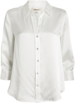 L'Agence Dani Silk Button Front Blouse