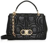 Salvatore Ferragamo Gancini Quilted Leather Top Handle Bag