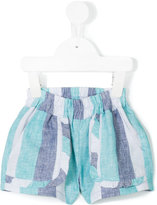 Knot - ocean stripes frill shorts - kids - Linen/Flax - 3 yrs