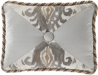 Dian Austin Couture Home Carte Le Blanche Pieced Oblong Pillow with Center Button