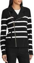 Ralph Lauren Striped Knit Moto Jacket