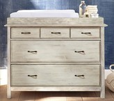 Pottery Barn Kids Rory Dresser & Topper Set, Weathered White