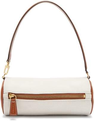 STAUD Suzy Canvas And Leather Shoulder Bag - Womens - Beige Multi