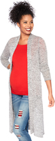 Motherhood Marled Long Maternity Cardigan