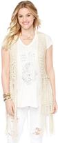 Motherhood Wendy Bellissimo Crochet Detail Cotton Woven Maternity Vest