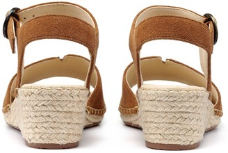 Hotter Fiji Wedge Ankle Strap Sandals - Dark Tan