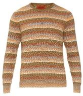 Missoni Long-sleeved Cotton And Wool-blend Knit Top