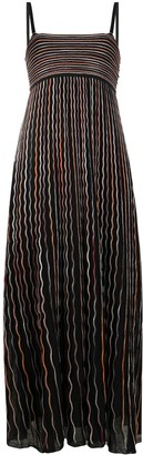 M Missoni Fine-Knit Embroidered Dress