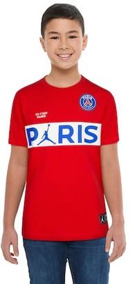 Jordan PSG Wordmark T-Shirt - Paris Saint Germain - Red
