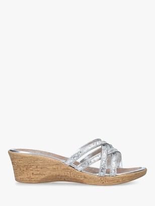 Carvela Comfort Scarlett Wedge Sandals, Silver