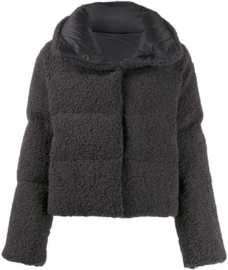 Bacon quilted down jacket