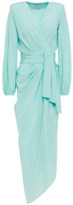Alexandre Vauthier Draped Gathered Stretch-silk Midi Dress