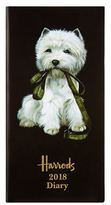 Harrods Westie Slim Week-To-View 2018 Diary
