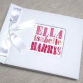 Letterfest Letterpress Baby Personalised Photo Album