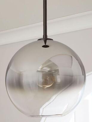 west elm Sculptural Ombre Glass Globe Ceiling Light, Metallic Bronze