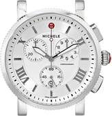 Michele Women's MW01K00A0018 Sport Sail Large Analog Display Swiss Quartz Silver Watch Head