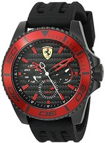 Ferrari Men's 'XX Kers' Quartz Stainless Steel and Silicone Casual Watch, Color:Black (Model: 0830310)