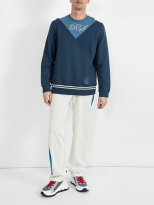 Fred Perry X Raf Simons Two Tone Sweatshirt Blue