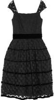 Opal polka-dot lace dress
