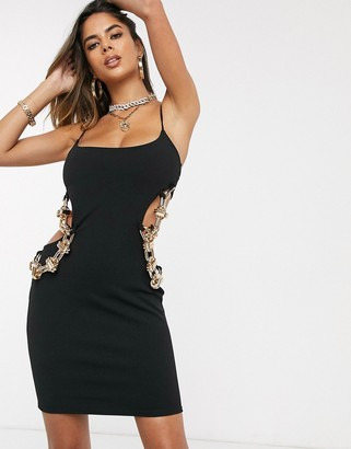 Public Desire mini cami dress with chain cut out detail