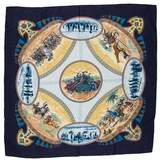 Hermes Cavaliers Peuls Silk Scarf
