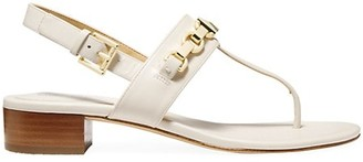 MICHAEL Michael Kors Charlton Leather Chain Thong Sandals