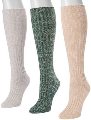 Muk Luks Women's Fluffy Slouch Socks, Set of 3