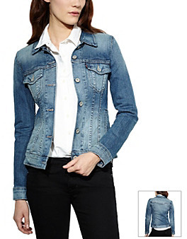 Levi's Levis Fitted Trucker Jean Jacket - Saddle Blue