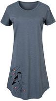Instant Message Women's Women's Tee Shirt Dresses HEATHER - Heather Blue Bird and Berries Short-Sleeve Dress - Women & Plus