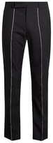 Paul Smith Contrast-stripe Cropped Wool Trousers