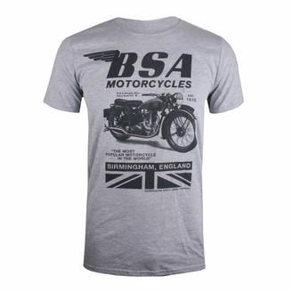 BSA Motocycles Men's TONAL INVERT T-Shirt (Grey Marl Gym) XX (Size:XX-Large)