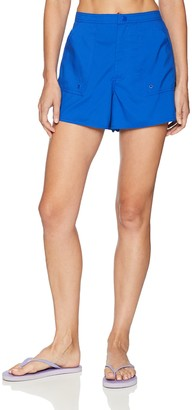 Maxine Of Hollywood Women's Solid Woven Boardshorts with Panty Lining