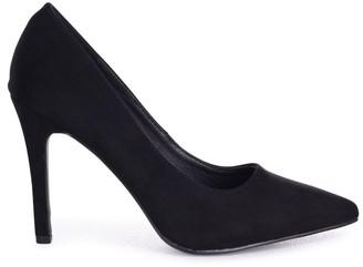 Linzi COLETTE - Black Suede Classic Court Shoe with Stiletto Heel