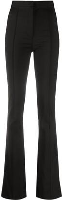 Patrizia Pepe High-Waisted Flared Leg Trousers