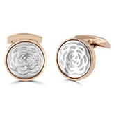 Effy Jewelry Effy Mens Stainless Steel Rose IP Shell Inlay Cuff Links