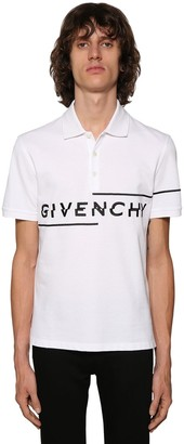 Givenchy Slim Fit Logo Embroidered Polo Shirt