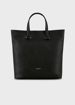 Giorgio Armani Washed Goatskin Leather Shopper Bag