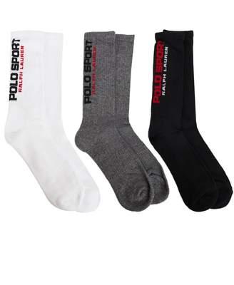 Polo Ralph Lauren 3 Pack Socks Colour: WHITE GREY BLACK, Si