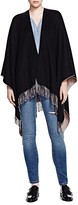 The Kooples Fringe Trim Reversible Poncho