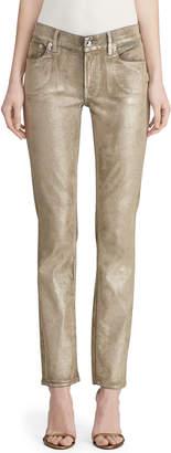 Ralph Lauren Metallic Painted Skinny Jeans