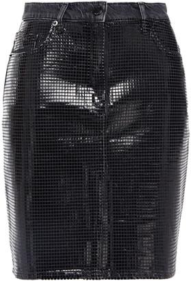 Love Moschino Coated Denim Mini Skirt