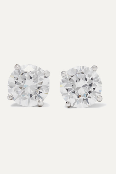 Kenneth Jay Lane Silver-tone Cubic Zirconia Earrings - one size