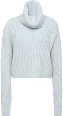 3.1 Phillip Lim Cropped Ribbed Wool-blend Turtleneck Sweater