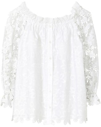 Broderie Anglaise Gathered Top