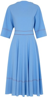 Roksanda Dara Blue Midi Dress
